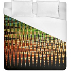 Triangle Patterns Duvet Cover (king Size) by Nexatart