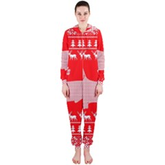 Ugly X Mas Design Hooded Jumpsuit (ladies)  by Nexatart