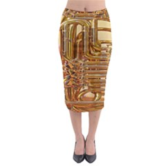 Tuba Valves Pipe Shiny Instrument Music Midi Pencil Skirt by Nexatart