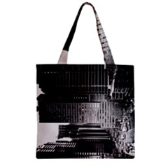Urban Scene Street Road Busy Cars Zipper Grocery Tote Bag by Nexatart