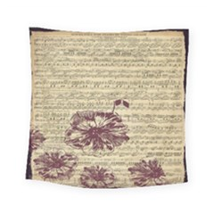 Vintage Music Sheet Song Musical Square Tapestry (small)