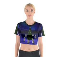 Waiting For The Xmas Christmas Cotton Crop Top