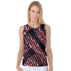 Weave And Knit Pattern Seamless Women s Basketball Tank Top