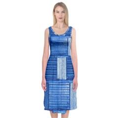 Wall Tile Design Texture Pattern Midi Sleeveless Dress