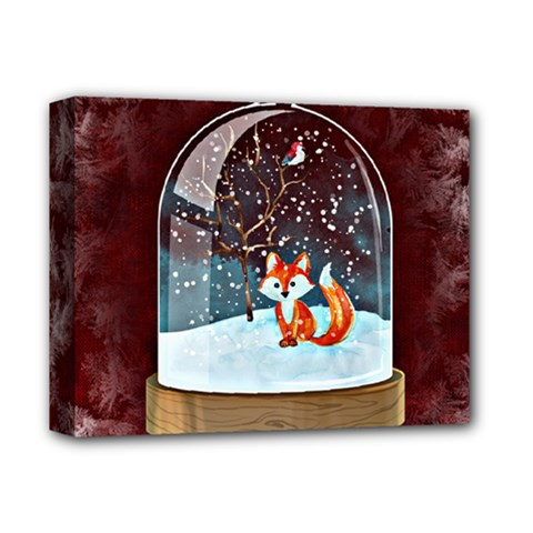 Winter Snow Ball Snow Cold Fun Deluxe Canvas 14  X 11  by Nexatart