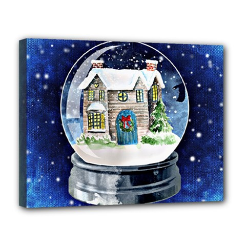 Winter Snow Ball Snow Cold Fun Canvas 14  X 11  by Nexatart