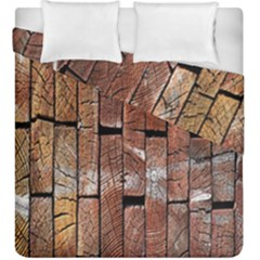 Wood Logs Wooden Background Duvet Cover Double Side (king Size)