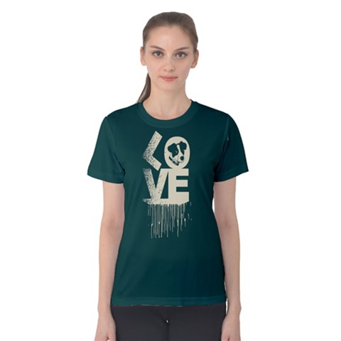 Love Dog - Women s Cotton Tee by FunnySaying