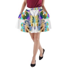Abstract Animal Art Butterfly A Line Pocket Skirt by Amaryn4rt