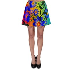 Abstract Background Backdrop Design Skater Skirt by Amaryn4rt