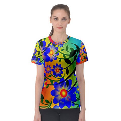 Abstract Background Backdrop Design Women s Sport Mesh Tee by Amaryn4rt