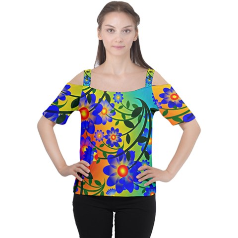 Abstract Background Backdrop Design Women s Cutout Shoulder Tee by Amaryn4rt