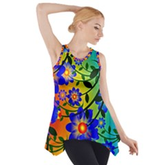 Abstract Background Backdrop Design Side Drop Tank Tunic by Amaryn4rt
