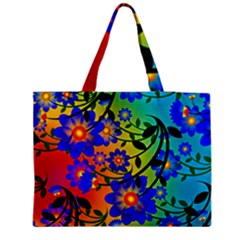 Abstract Background Backdrop Design Medium Zipper Tote Bag by Amaryn4rt