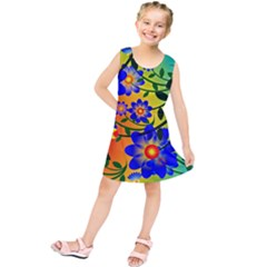 Abstract Background Backdrop Design Kids  Tunic Dress by Amaryn4rt