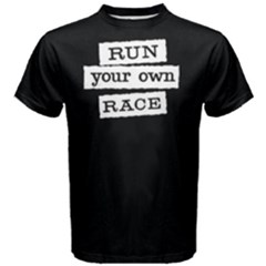 Run Your Own Face   Men s Cotton Tee