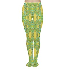 Ornate Modern Noveau Women s Tights by dflcprintsclothing