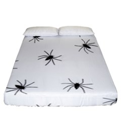 Animals Arachnophobia Seamless Fitted Sheet (california King Size)