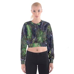 Backdrop Background Abstract Women s Cropped Sweatshirt
