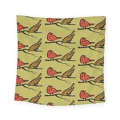 Bird Birds Animal Nature Wild Wildlife Square Tapestry (small) by Amaryn4rt