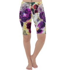 Background Flowers Cropped Leggings