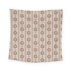 Background Rough Stripes Brown Tan Square Tapestry (small)