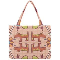 Dog Abstract Background Pattern Design Mini Tote Bag by Amaryn4rt