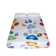 Colorful Prismatic Rainbow Animal Fitted Sheet (full/ Double Size) by Amaryn4rt