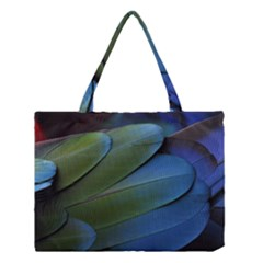 Feather Parrot Colorful Metalic Medium Tote Bag
