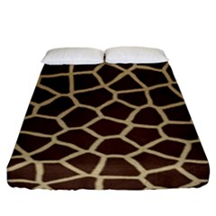 Giraffe Animal Print Skin Fur Fitted Sheet (king Size) by Amaryn4rt
