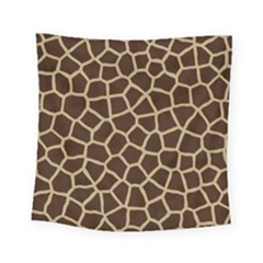 Giraffe Animal Print Skin Fur Square Tapestry (small)