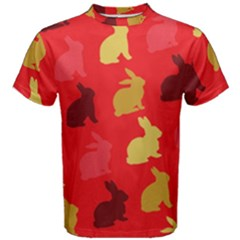 Hare Easter Pattern Animals Men s Cotton Tee by Amaryn4rt
