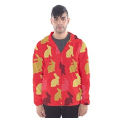 Hare Easter Pattern Animals Hooded Wind Breaker (men) by Amaryn4rt