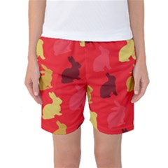 Hare Easter Pattern Animals Women s Basketball Shorts by Amaryn4rt