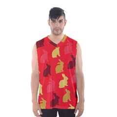 Hare Easter Pattern Animals Men s Basketball Tank Top by Amaryn4rt