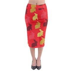 Hare Easter Pattern Animals Midi Pencil Skirt by Amaryn4rt