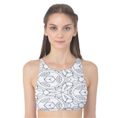 Pattern Silly Coloring Page Cool Tank Bikini Top