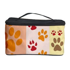 Paw Print Paw Prints Fun Background Cosmetic Storage Case by Amaryn4rt