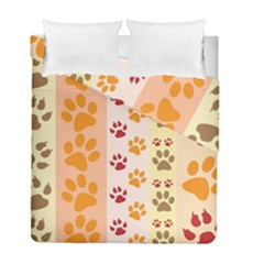 Paw Print Paw Prints Fun Background Duvet Cover Double Side (full/ Double Size) by Amaryn4rt