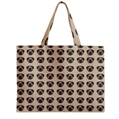 Puppy Dog Pug Pup Graphic Zipper Mini Tote Bag