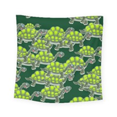 Seamless Tile Background Abstract Turtle Turtles Square Tapestry (small)