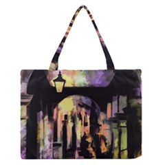 Street Colorful Abstract People Medium Zipper Tote Bag by Amaryn4rt