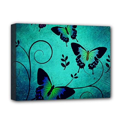 Texture Butterflies Background Deluxe Canvas 16  X 12   by Amaryn4rt