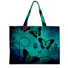 Texture Butterflies Background Zipper Mini Tote Bag