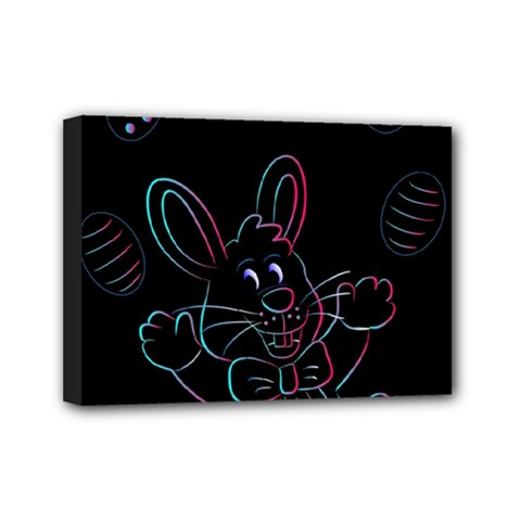 Easter Bunny Hare Rabbit Animal Mini Canvas 7  X 5  by Amaryn4rt