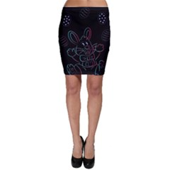 Easter Bunny Hare Rabbit Animal Bodycon Skirt by Amaryn4rt