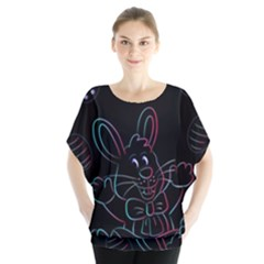Easter Bunny Hare Rabbit Animal Blouse by Amaryn4rt