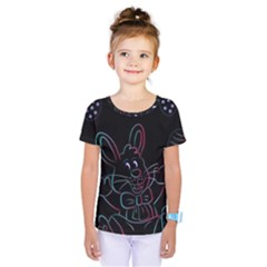 Easter Bunny Hare Rabbit Animal Kids  One Piece Tee by Amaryn4rt