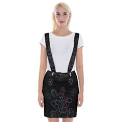 Easter Bunny Hare Rabbit Animal Suspender Skirt