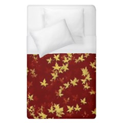 Background Design Leaves Pattern Duvet Cover (single Size) by Amaryn4rt
